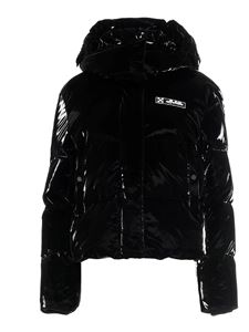 Off-White - Hooded puffer jacket in black