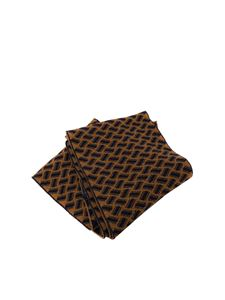 Drumohr - Cashmere scarf in camel color and brown