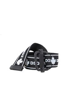 Dsquared2 - Logo print belt in black