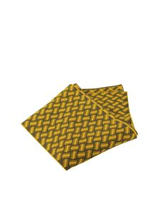 Drumohr - Cashmere scarf in yellow and green