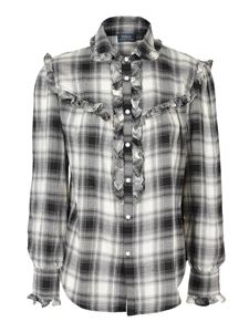 POLO Ralph Lauren - Check ruffled flannel shirt