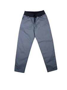 Emporio Armani - Logo and drawstring pants in blue