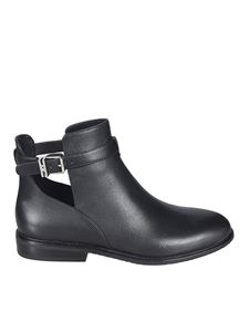 Michael Kors - Lawson calfskin booties with openings