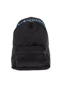 Balenciaga - Lettering embroidery backpack in black