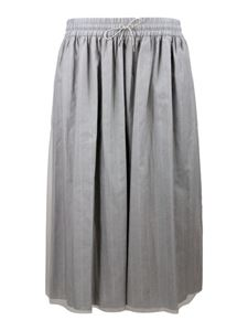 Fabiana Filippi - Pleated skirt in grey