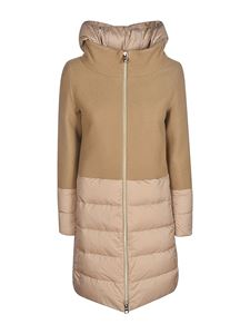 Herno - Revival wool and nylon padded coat