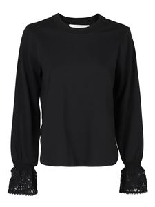 See by Chloé - Long lace sleeves cotton T-shirt