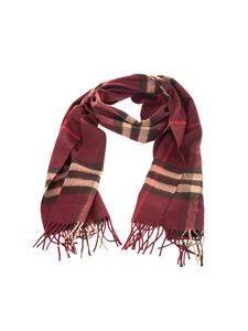 Burberry - Purple checked scarf