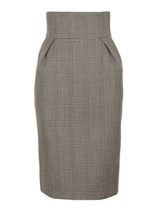 Alexandre Vauthier - Prince of Wales wool skirt