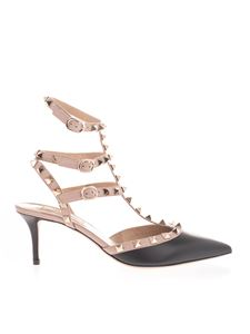 Valentino Garavani - Rockstud décolleté in black and beige