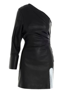 Off-White - Acid leather dress in black