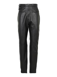 Red Valentino - Lambskin trousers with buckles