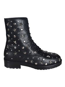 Red Valentino - Combat boots with star studs