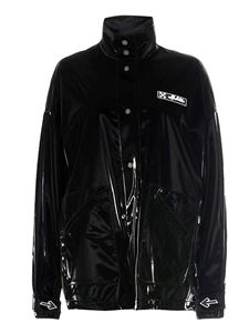 Off-White - Glossy effect jacket in black