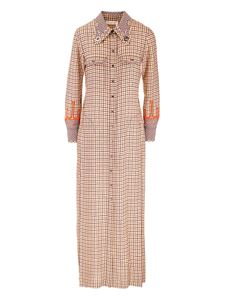 Chloé - Checkered dress in beige rose gold