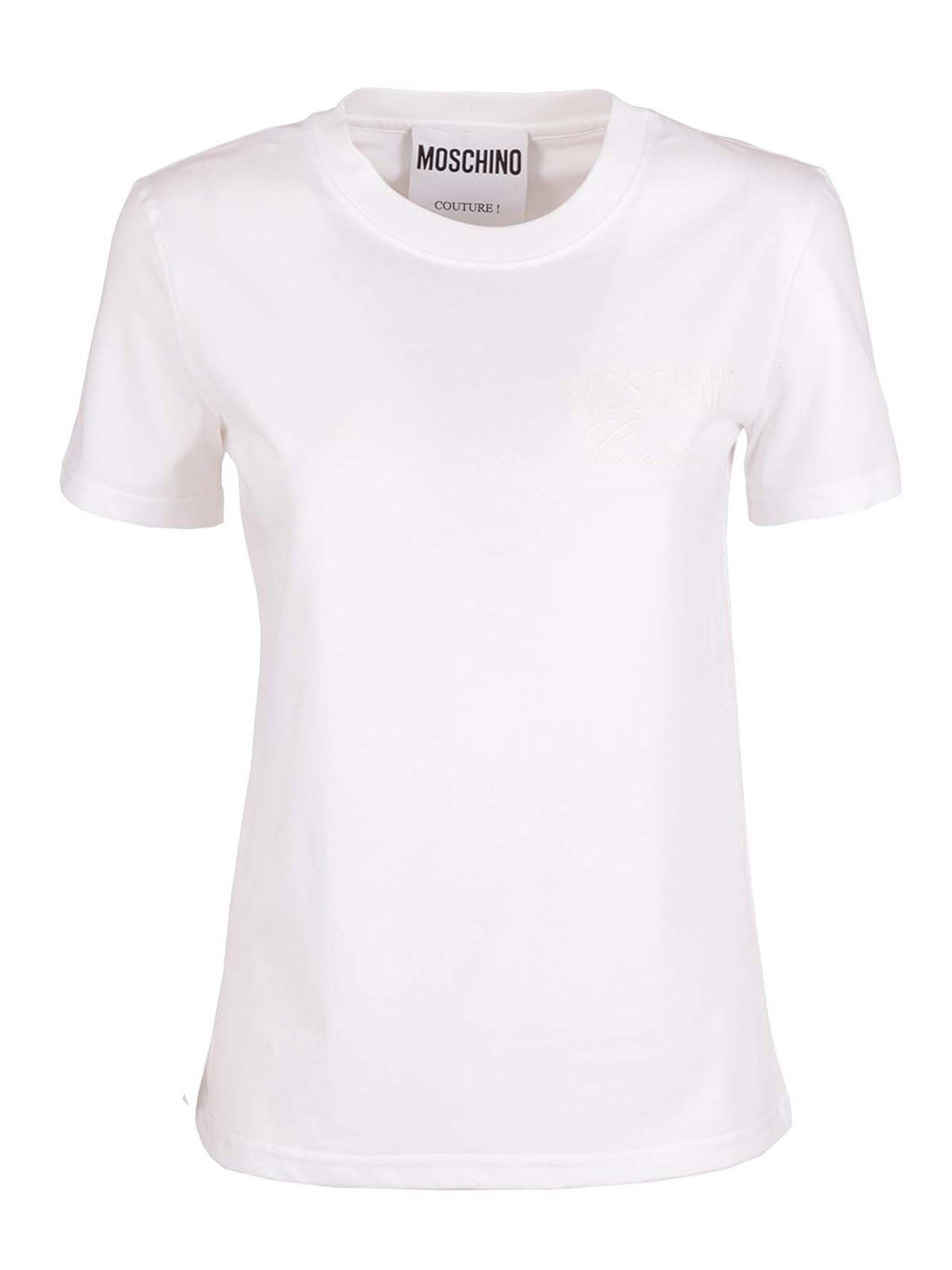 MOSCHINO BREAST LOGO T-SHIRT