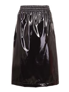 Moncler - Faux leather skirt
