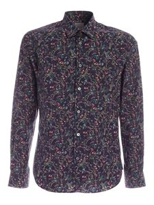 Paul Smith - Multicolor flower print shirt in blue