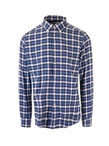 Barbour - Checked shirt in blue and white