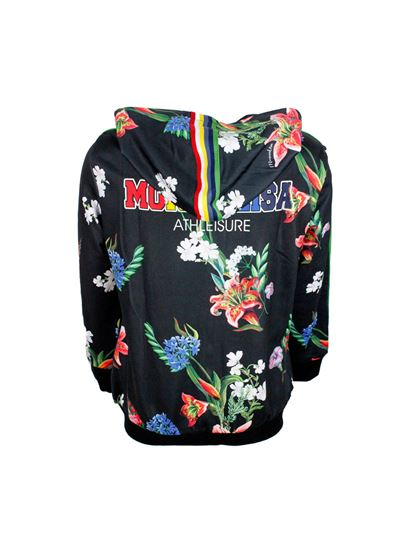 Monnalisa - Tropical print hoodie in black