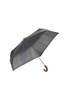 Barbour - Tartan umbrella in green blue and black