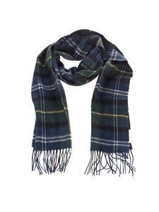Barbour - Tartan scarf in green and blue