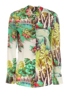 Paul Smith - Print shirt in shades of green