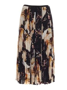 Paul Smith - Orchid print long skirt in black