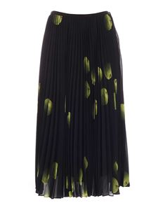 Paul Smith - Apple print long skirt in dark blue