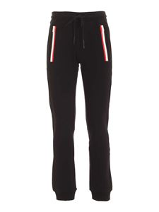 Moncler - Tricolor band trackpants in black