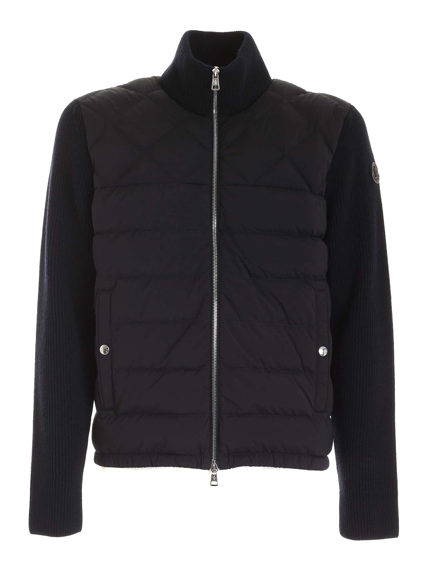 Moncler TRICOT CARDIGAN IN BLUE
