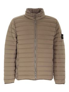 Stone Island - Removable hood down jacket in beige