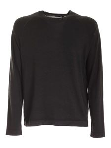 Z Zegna - Raglan sleeves pullover in anthracite color