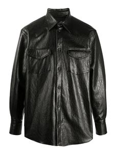 MSGM - Faux leather shirt