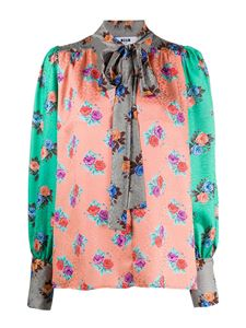 MSGM - Floral printed blouse