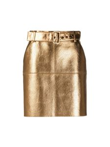 MSGM - Metallized mini skirt