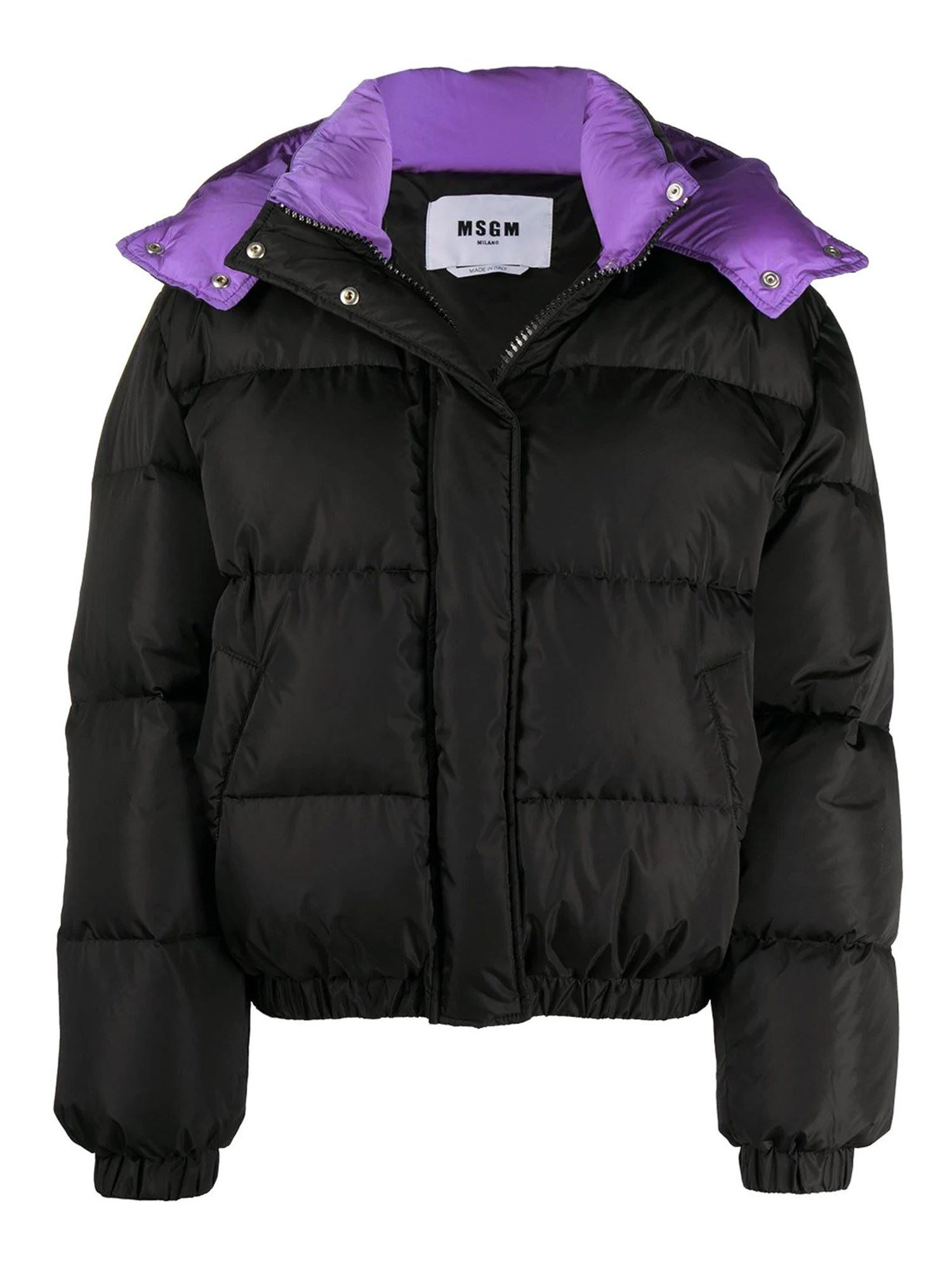 Msgm QUILTED TECH FABRIC PUFFER JACKET