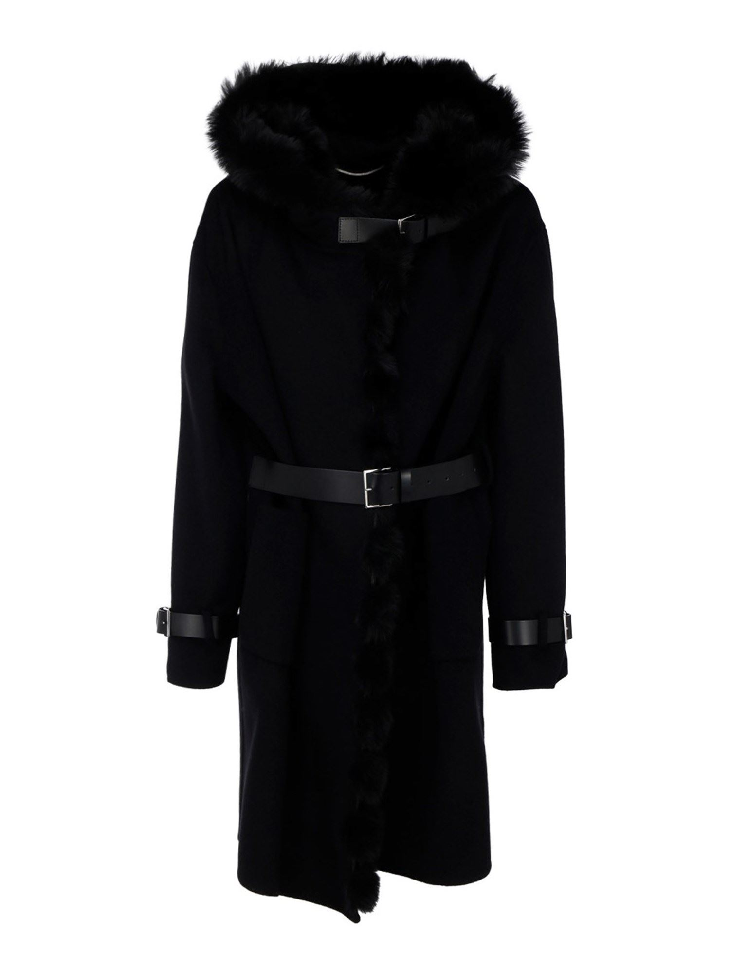 Ermanno Scervino FUR HOODED COAT