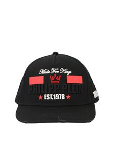 Philipp Plein - King Plein basaball cap in black and red