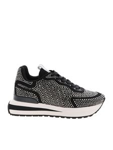 be Blumarine - Sneakers nere con strass