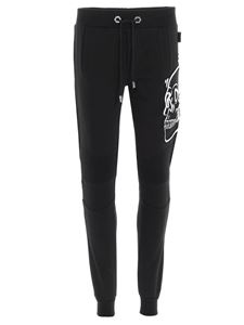 Philipp Plein - Skull jogging pants in black and white