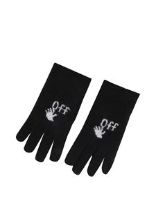 Off-White - Felted virgin wool gloves
