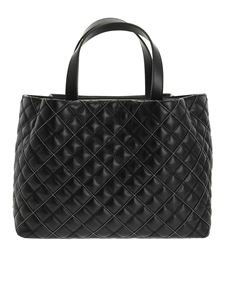 Fabiana Filippi - Quilted and smooth leather tote