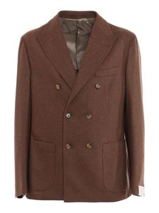Eleventy - Brushed wool-cashmere blend suit