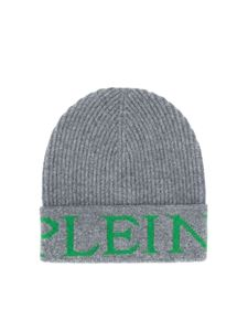 Philipp Plein - Logo embroidery ribbed beanie