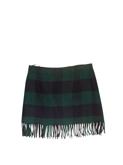 Il Gufo - Check skirt in blue and green