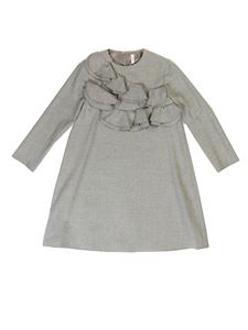 Il Gufo - Rouches dress in grey