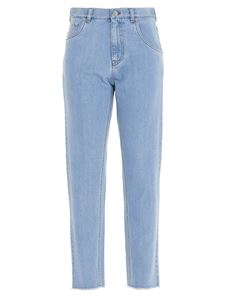 N° 21 - Cropped logo jeans in light blue