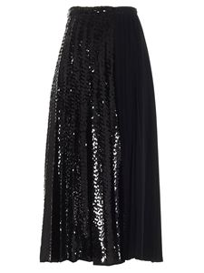 N° 21 - Sequined pleated skirt in black