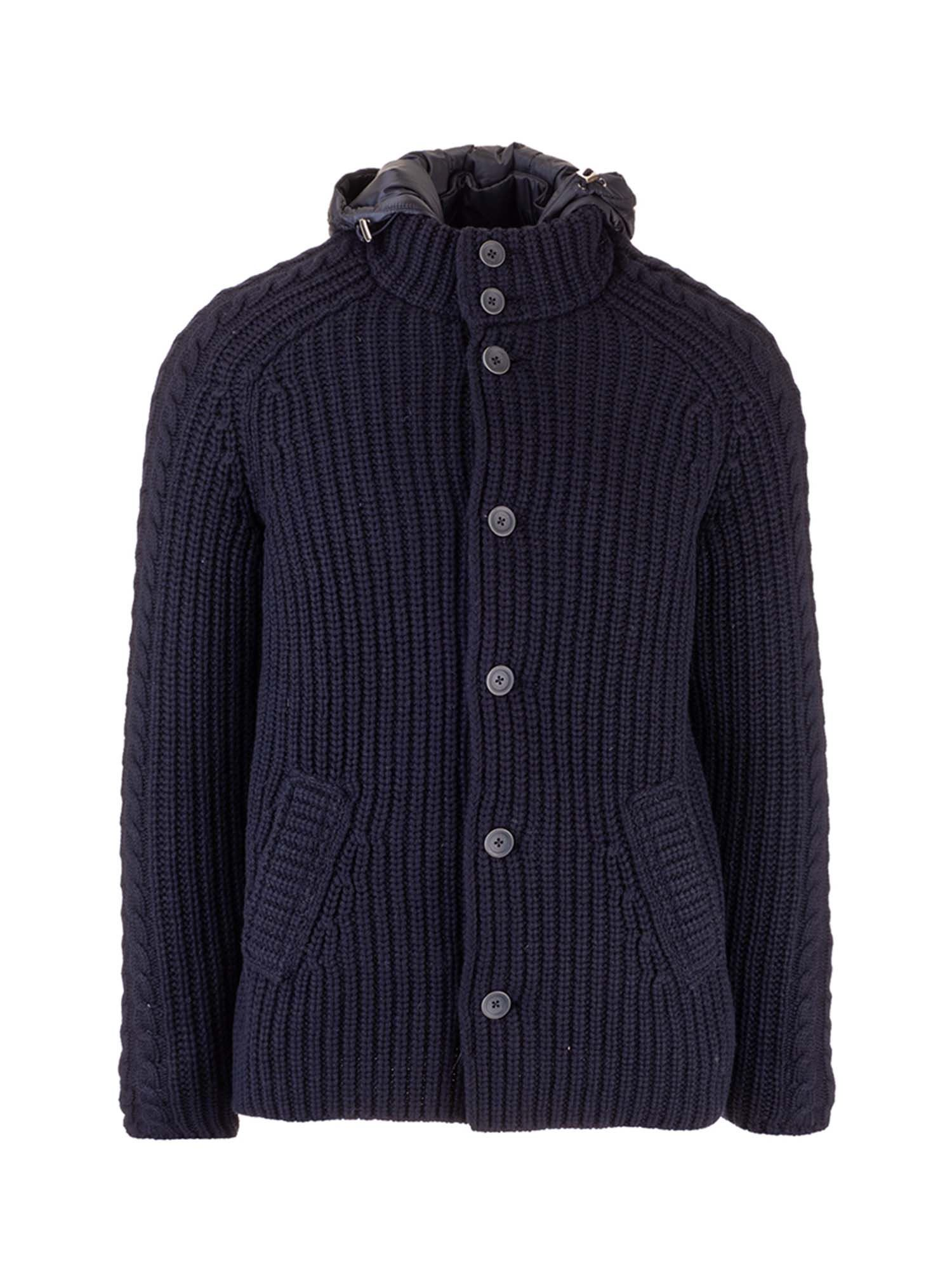 Herno HOODED DOWN JACKET IN BLUE